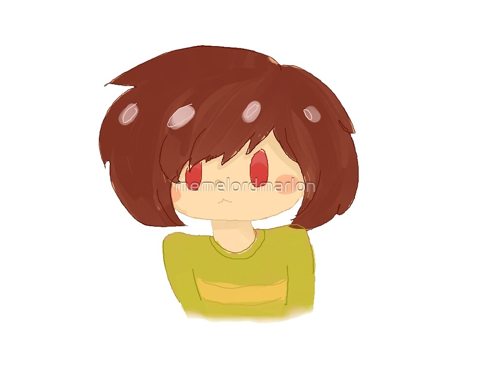 Chara doodle (test) by memelordmarlon