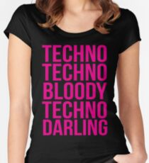 Absolutely Fabulous - Techno, Techno Women's Fitted Scoop T-Shirt