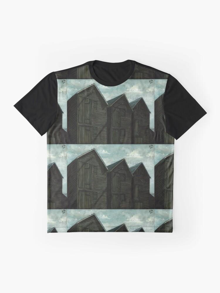 Alternate view of Net Huts in Warm Sunshine Graphic T-Shirt