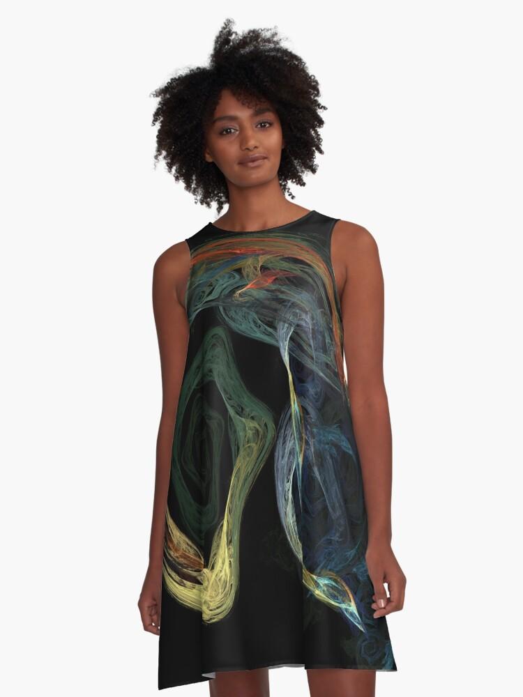 Color Smoke A-Line Dress Front