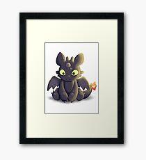 Little Dragon Plush Framed Print