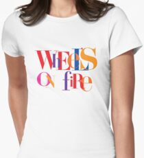 Absolutely Fabulous - Wheel's On Fire  Women's Fitted T-Shirt