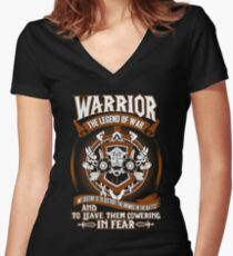 Warrior The Legend Of War - Wow Women's Fitted V-Neck T-Shirt