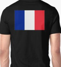 FRANCE, FRENCH, French Flag, Flag of France, Tricolour, Storming of the Bastille, Liberté, Égalité, Fraternité, Pure and simple, on black T-Shirt