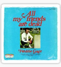 Vinyl Record Cover - All my friends are dead Sticker