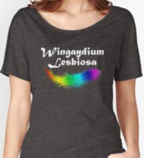 Wingaydium Lesbiosa, Lesbian Pride, Gay pride gifts, and pride month swag Women's Relaxed Fit T-Shirt