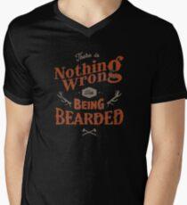 BEING BEARDED Men's V-Neck T-Shirt