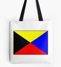 Letter Z Nautical Flag Tote Bag