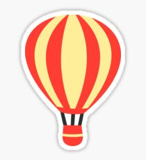Classic Red and Yellow Hot air Balloon Sticker
