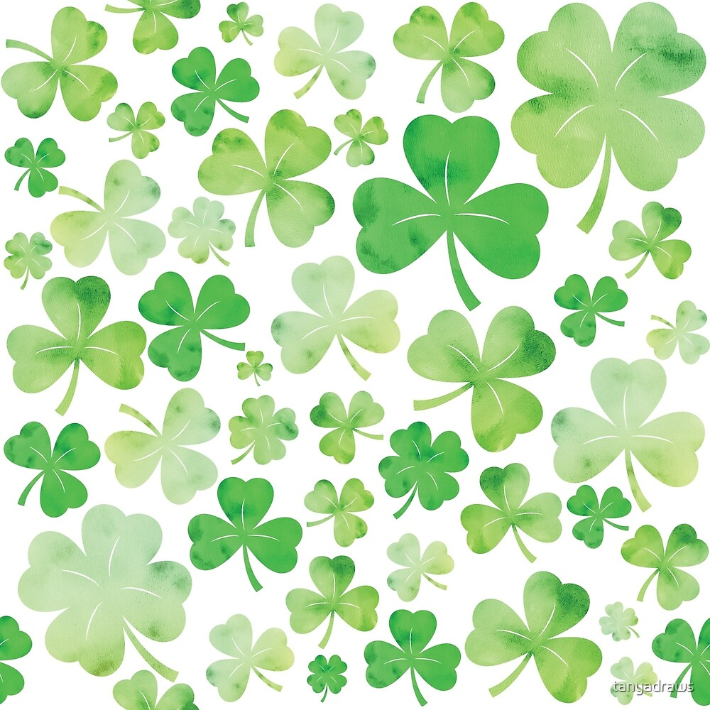 shamrock pattern wallpaper 1366x768 - photo #2