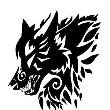 Tribal wolf by Soleilou