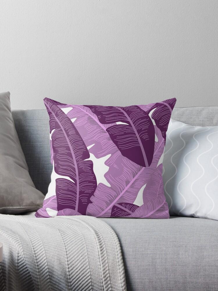 Purple/Pink Banana Leaf Pastel Nature Print by Nicholas Giampiccolo