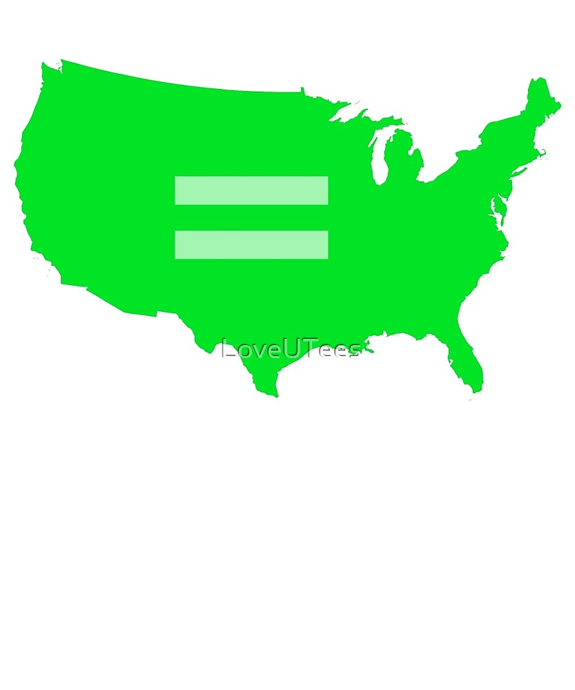 LOVE Gay pride, LGBT love, Marriage Equality, Equal Rights Swag and Gifts by LoveUTees
