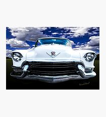 55 Cadillac Down Inna Meadow Up In Kerrville Photographic Print