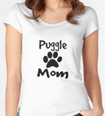 Puggle Mom Women's Fitted Scoop T-Shirt