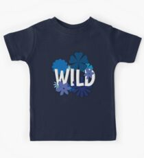 Wild (Floral Typography) Kids Clothes