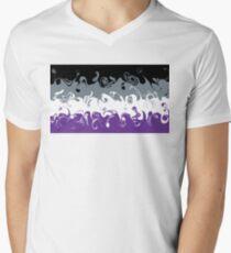 Swirly Ace Flag Men's V-Neck T-Shirt