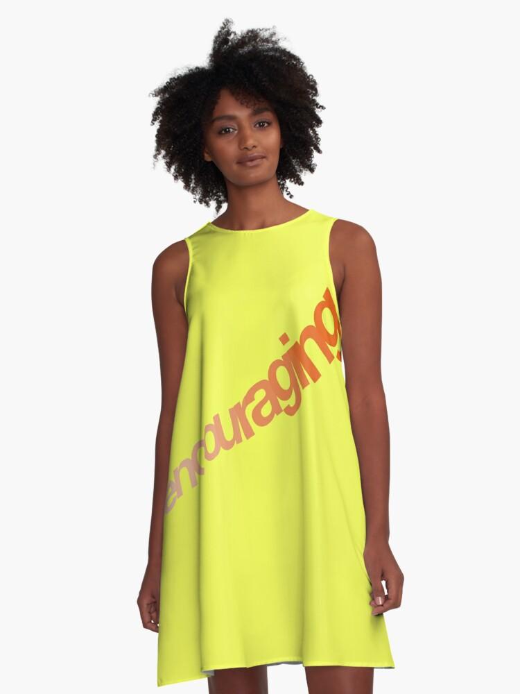 Encouragement A-Line Dress Front