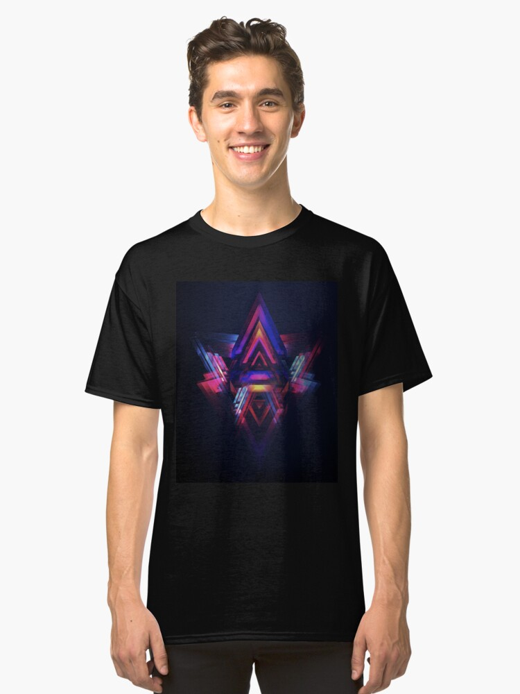 Abstract Pyramids Classic T-Shirt Front
