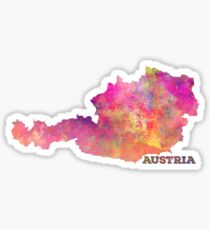 Austria map Sticker