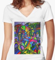 Dreamscapes Women's Fitted V-Neck T-Shirt
