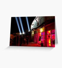 Red Light District - Dark Mofo 2014 Greeting Card