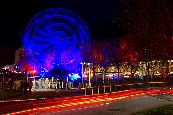 Wheel of Death street scene - Dark Mofo 2014 by clickedbynic