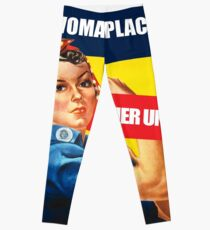 A Woman's place, Feminism Equality Rosie the Riveter, Equal Right Swag and Gifts for feminists.  Leggings