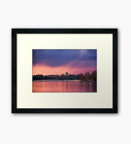 Midsummer rain Framed Print