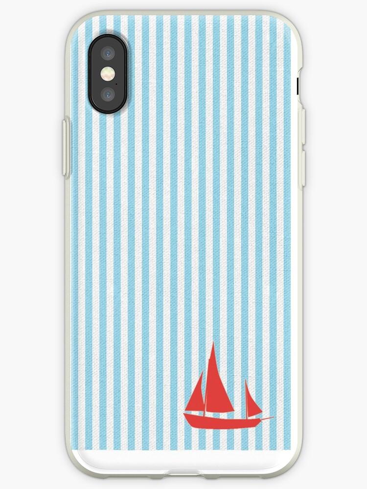 Sailboat Seersucker Texture Nautical Print by Nicholas Giampiccolo