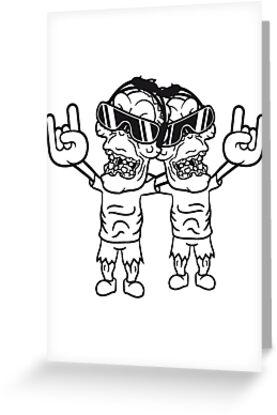 team 2 friends rocker hard rock heavy metal music party celebrate ...