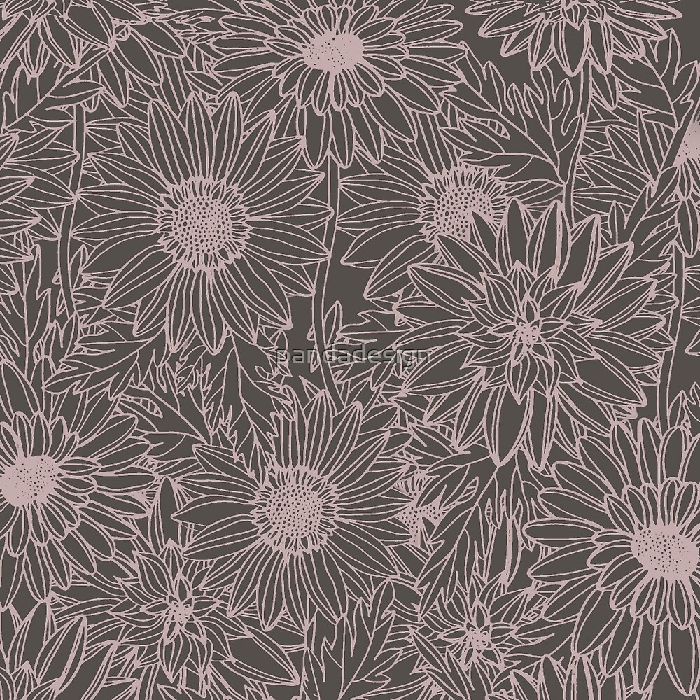 Floral Drawing by pandadesign