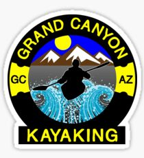 KAYAKING GRAND CANYON ARIZONA KAYAK WHITEWATER RIVER RAFTING Sticker