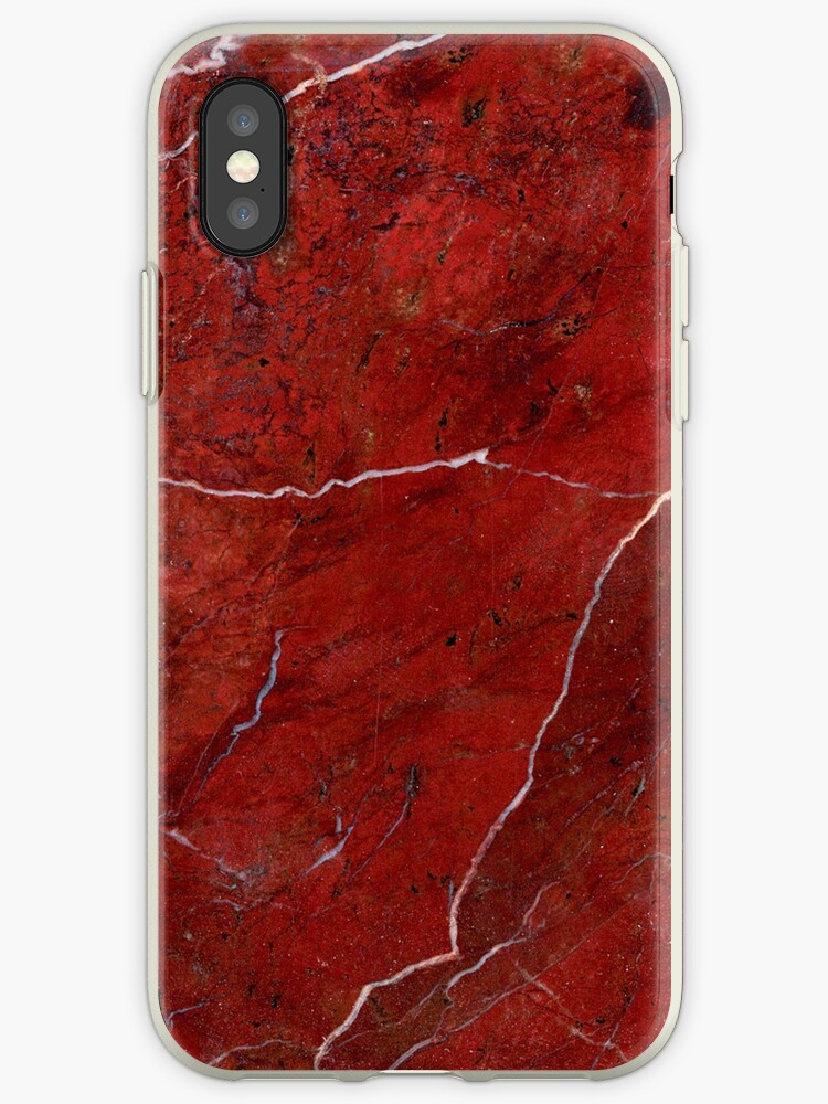 Red Black Marble Pattern by FangirlFuel