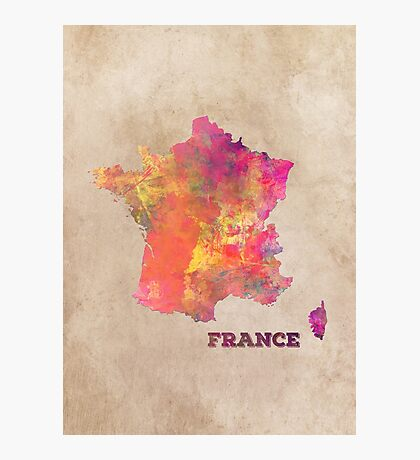 France map Photographic Print