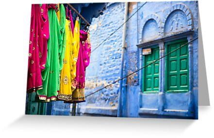 Jodphur Saris - Rajasthan, India by JamesKaoFoto