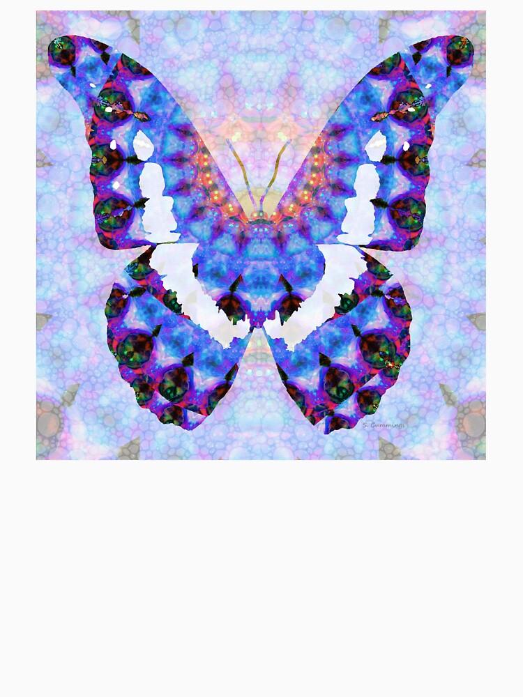Lila Mandala-Schmetterlings-Kunst durch Sharon Cummings von SharonCummings