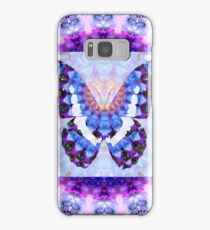 Purple Mandala Butterfly Art by Sharon Cummings Samsung Galaxy Case/Skin