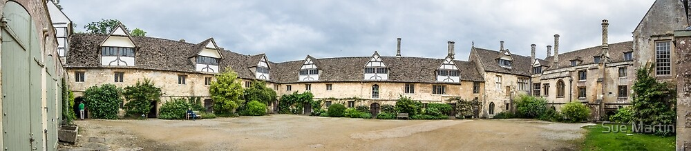 Medieval Courtyard Panorama by Sue Martin