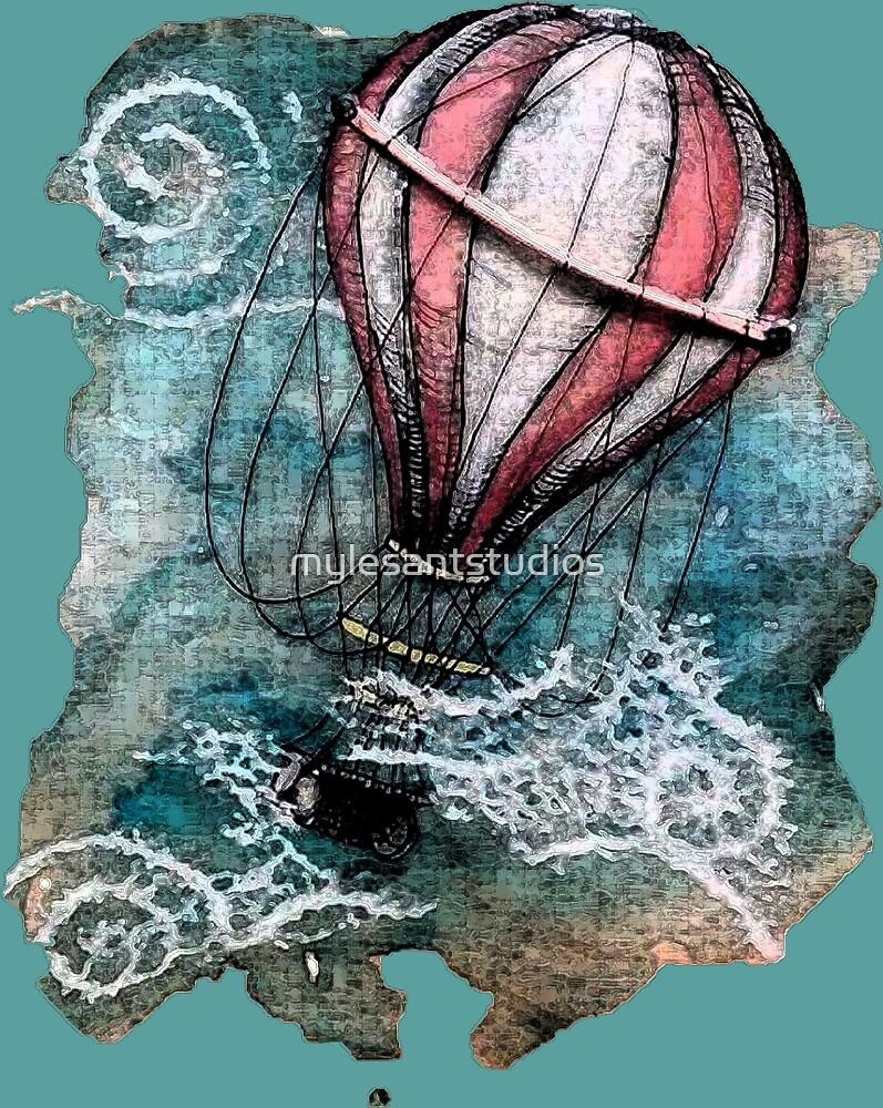 Hot Air Balloon by mylesantstudios