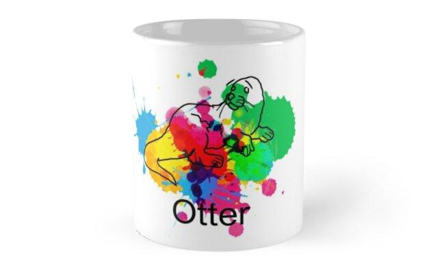 Otter Mug Paint (White) by Otter573