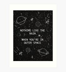 5SOS 5 Seconds of Summer Outer Space Lyric Doodle Art Print