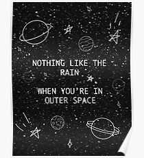 5SOS 5 Seconds of Summer Outer Space Lyric Doodle Poster