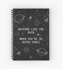 5SOS 5 Seconds of Summer Outer Space Lyric Doodle Spiral Notebook