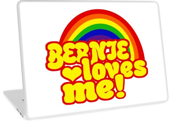 Bernie is Love Rainbow, Pride Week Swag, Feel the Bern unique Gifts by LoveUTees