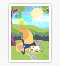 Relaxation Time With Fionna and Cake Sticker