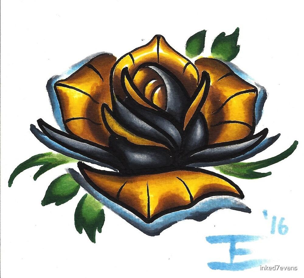 golden rose by inked7evans