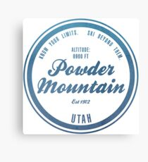 Powder Mountain Ski Resort Utah Canvas Print