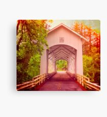 Oregon - Covered Short Bridge Canvas Print