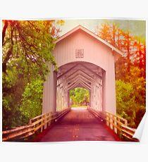 Oregon - Covered Short Bridge Poster